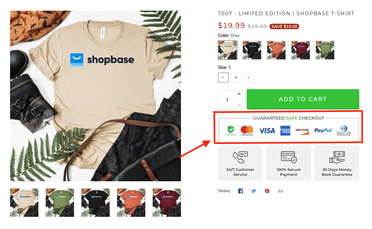 Adding trust badge to boost the conversion rate