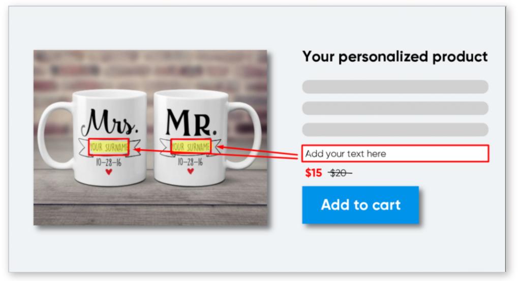Khách hàng có thể thay đổi thiết kế ngay trên online store