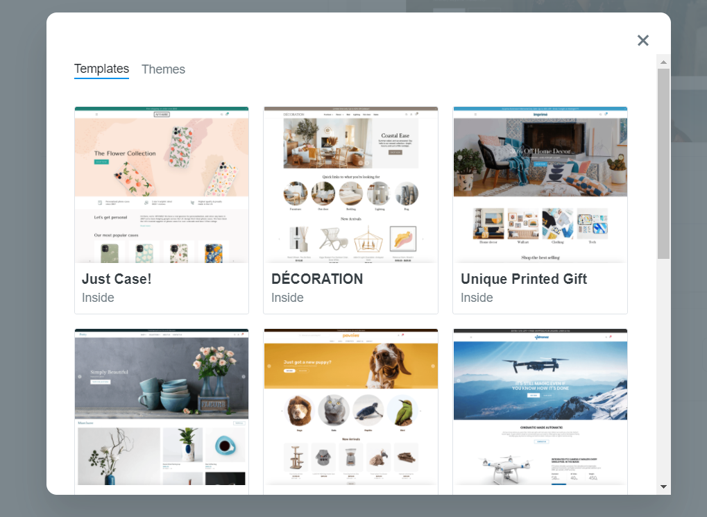 The dropshipping platform ShopBase offers its users a wide range of pre-made templates