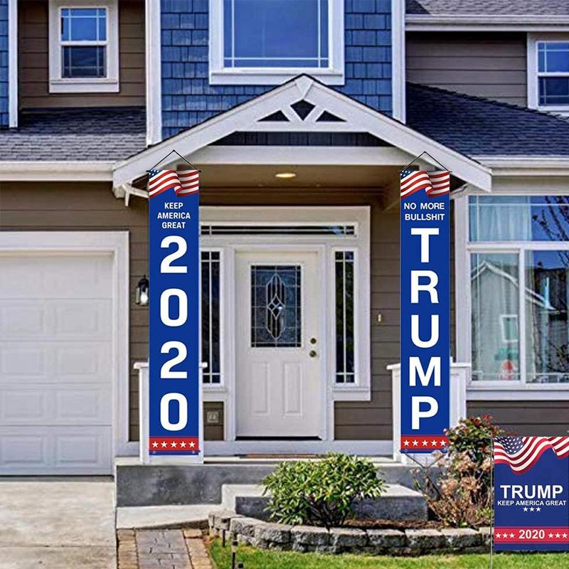 A porch banner sample for President's Day 2020 to express their disapproval of the current administration