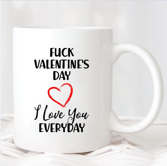 mug sample on Valentine's Day