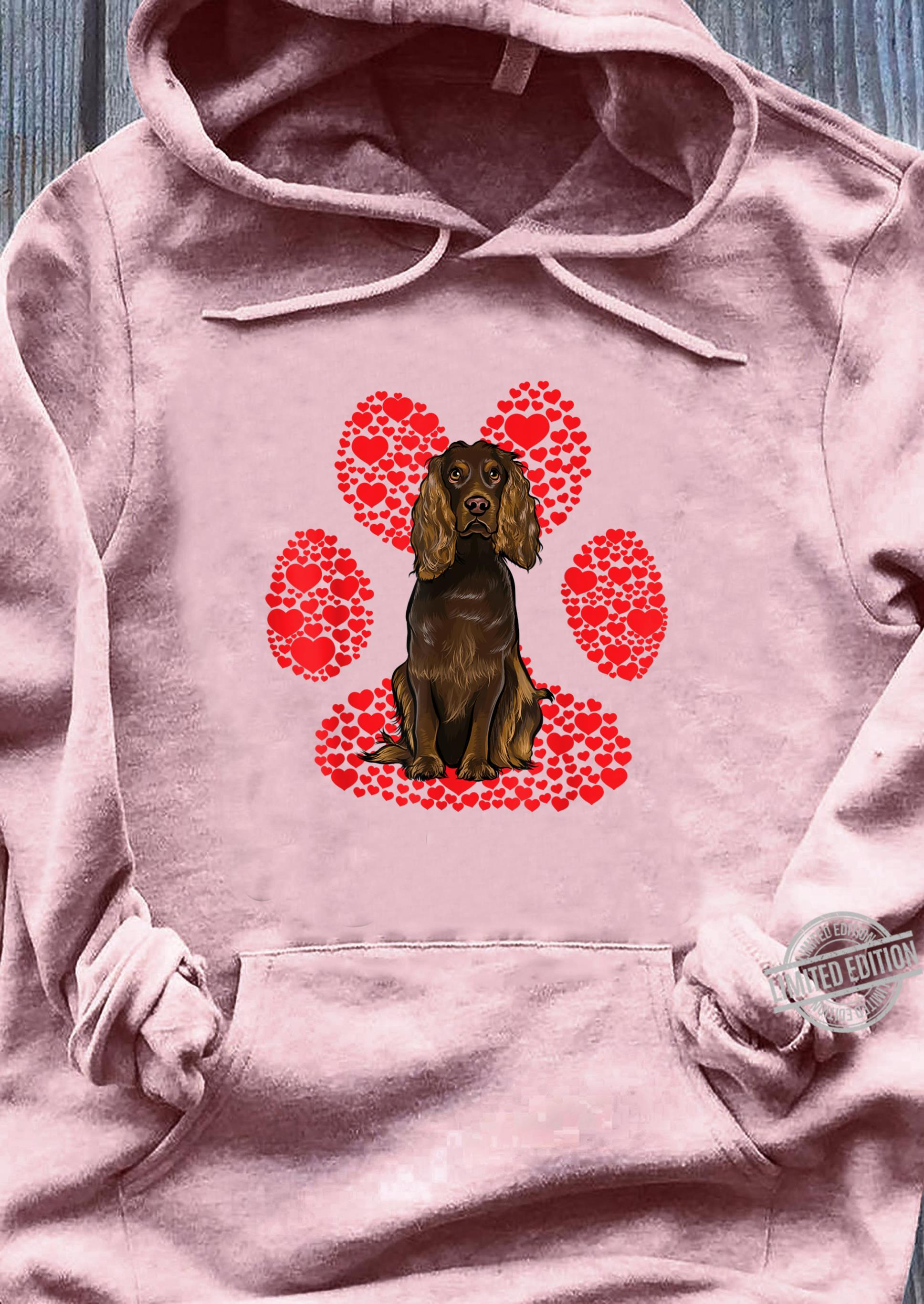 hoodie design for dog lovers modified for Valentine's Day