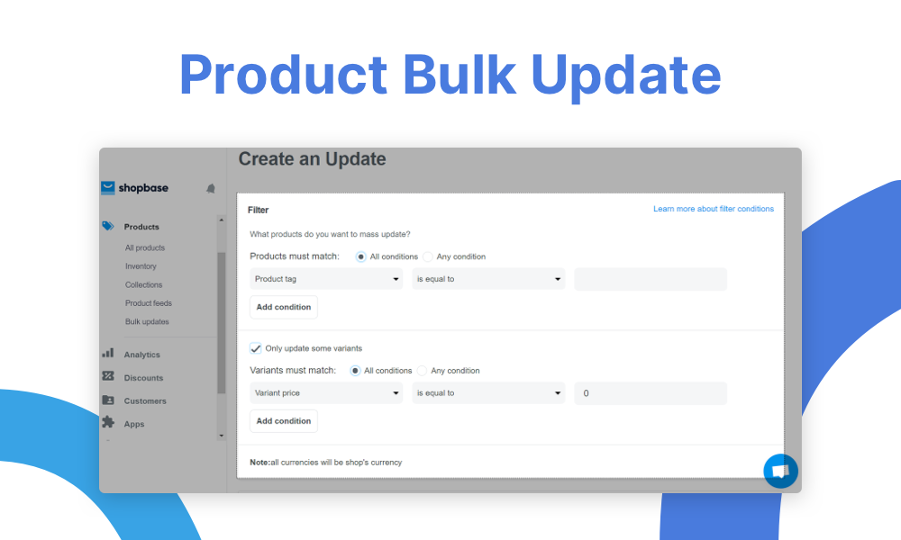 Product bulk update - 2