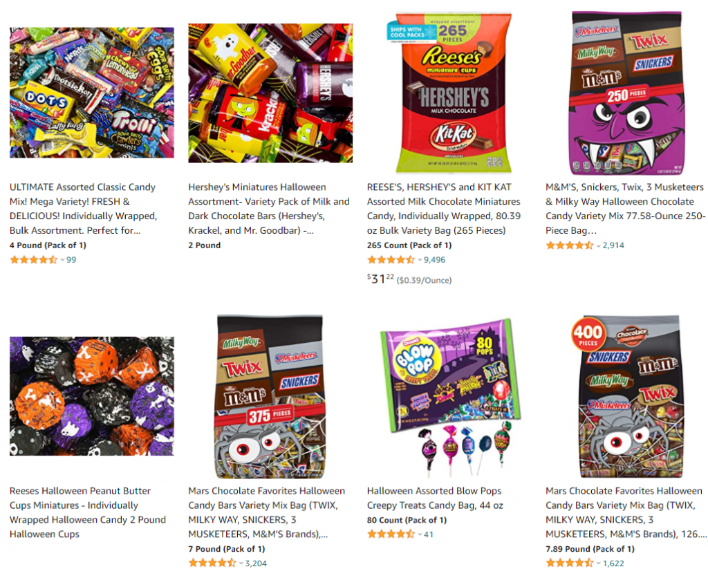 halloween dropshipping candy and candy bucket