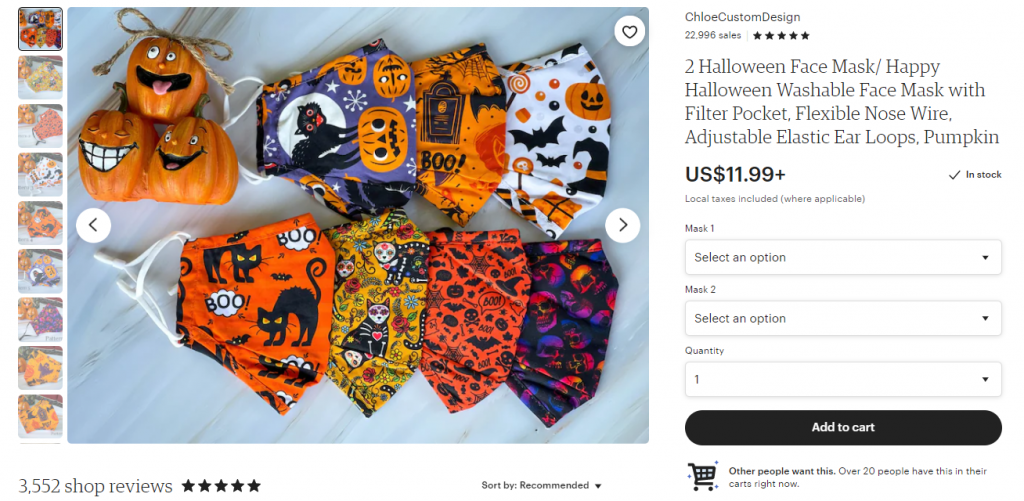 halloween dropshipping mask product