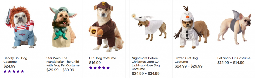 halloween dropshipping pet costumes