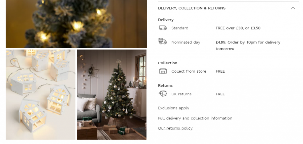 holiday fulfillment return policy